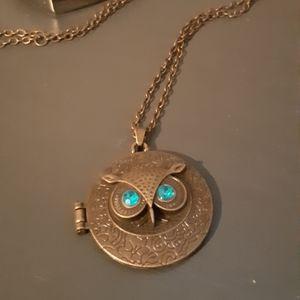 Owl Locket Style Necklace